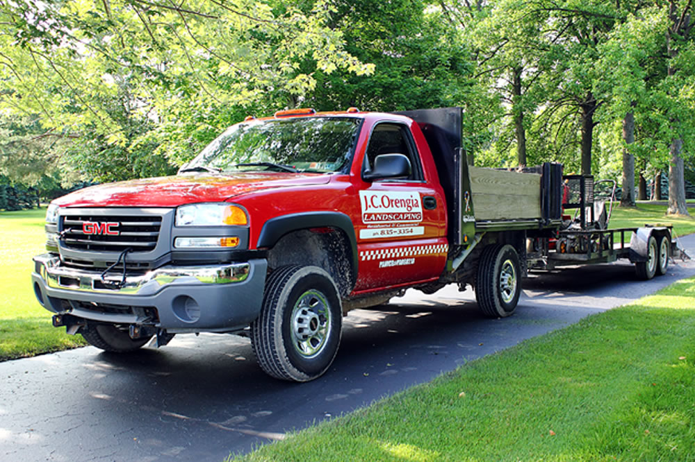 J.C. Orengia Landscaping Truck